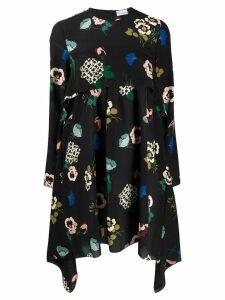 RedValentino REDValentino floral print handkerchief longsleeved dress