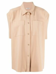 Nina Ricci oversized short-sleeved shirt - NEUTRALS
