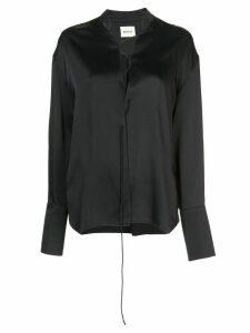 Khaite lace-up blouse - Black