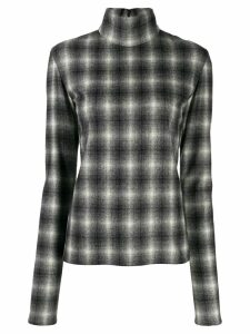 Nina Ricci checked mock neck sweatshirt - Black