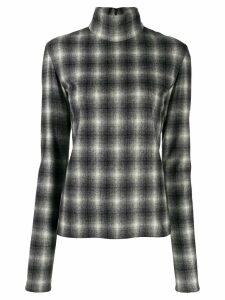 Nina Ricci checked mock neck sweatshirt - Black