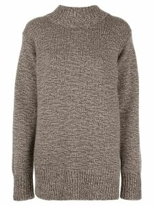 The Row oversize crew-neck cashmere sweater - Brown