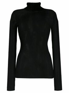 Victoria Victoria Beckham slim fit turtleneck top - Black