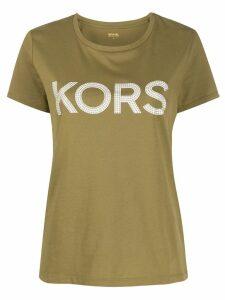 Michael Michael Kors studded logo T-shirt - Green