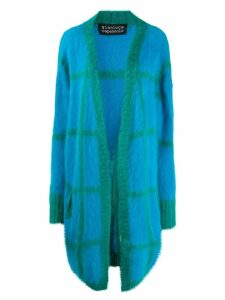 Gianluca Capannolo checked pattern midi cardigan - Blue