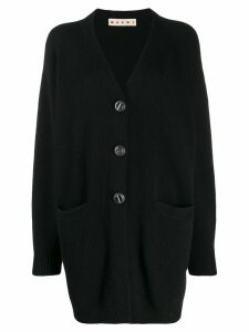 Marni long-length knitted cardigan - Black