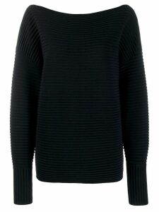 Victoria Victoria Beckham off the shoulder ottoman jumper - Blue