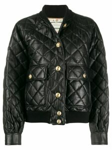 Gucci quilted bomber jacket - Black