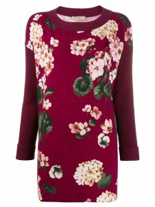 Twin-Set floral print long-line jumper - Pink