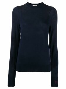 Nina Ricci crew neck knitted top - Blue