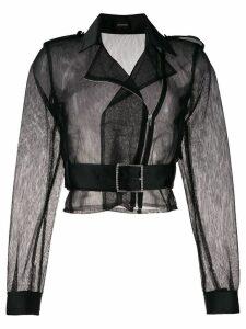 Pinko Vertigo biker blouse - Black