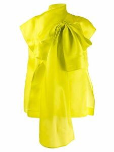 Nina Ricci oversized bow-embellished blouse - Green