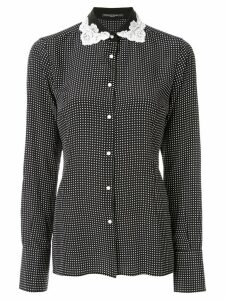 Ermanno Scervino lace collar shirt - Black