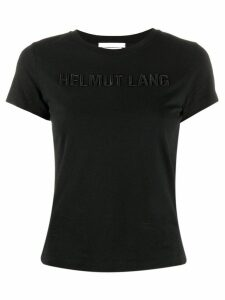 Helmut Lang embroidered logo T-shirt - Black