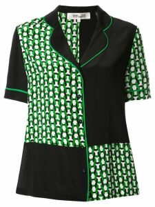 Diane von Furstenberg patterned button-front shirt - Green