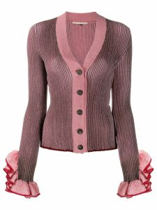 Marco De Vincenzo metallic knit cardigan - PINK