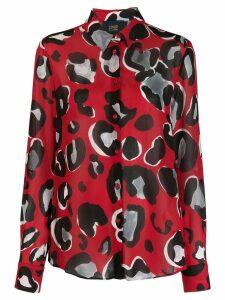Cavalli Class leopard print shirt - Red
