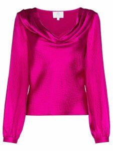 Rebecca De Ravenel cowl-neck blouse - PINK