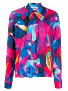 MSGM abstract print shirt - PINK
