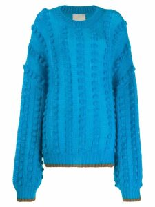 Marco De Vincenzo balloon sleeve jumper - Blue