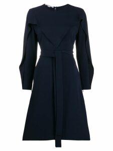 Stella McCartney long-sleeved flared dress - Blue