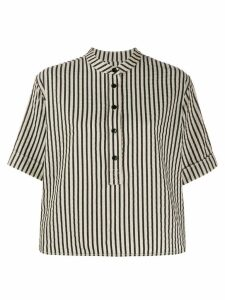 YMC striped short-sleeve shirt - Black