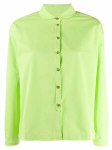 YMC flared long-sleeve shirt - Green