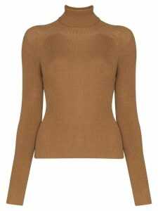 Carcel ribbed turtle-neck jumper - Brown