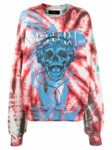 Amiri skull-print sweatshirt - Red