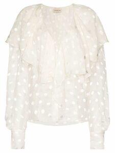 Alexandre Vauthier ruffle design blouse - White