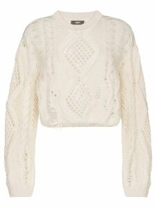 AMIRI open-knit cropped jumper - White