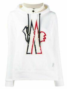 Moncler Grenoble appliqué logo hoodie - White