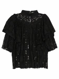 Isabel Marant Étoile Vetea lace top - Black