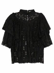 Isabel Marant Étoile Vetea lace top - Black