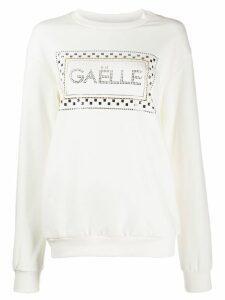 Gaelle Bonheur logo embellished sweatshirt - White