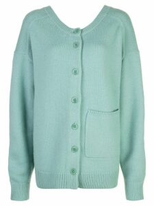 Tibi two-way cardigan sweater - Green