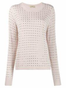 LIU JO square studded jumper - Pink
