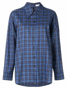 Tibi Kingston plaid shirt - Blue