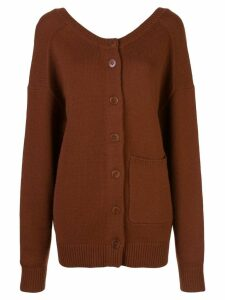 Tibi two-way cardigan sweater - Brown