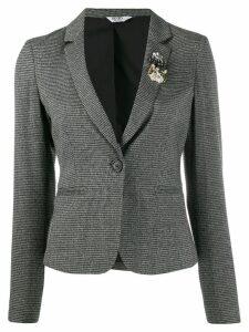 LIU JO houndstooth check pattern blazer - Black