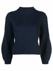 Tibi ribbed knit cropped sweater - Blue