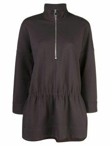 Tibi stretch knit tunic top - Black