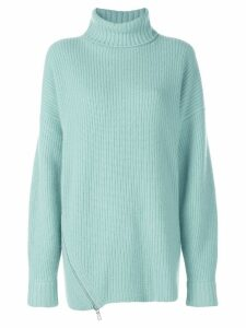 Tibi ribbed knit turtleneck sweater - Green