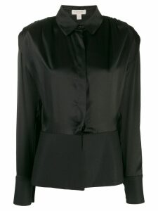 Matériel long-sleeved peplum shirt - Black