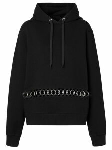 Burberry ring-pierced oversized hoodie - Black