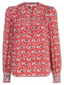 Veronica Beard paisley blouse - Red