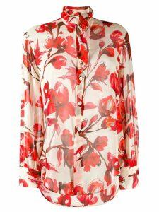 Vivienne Westwood flower print shirt - NEUTRALS