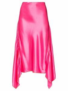 Sies Marjan draped satin midi skirt - PINK