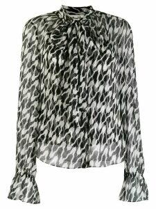 Diane von Furstenberg two-tone blouse - Black