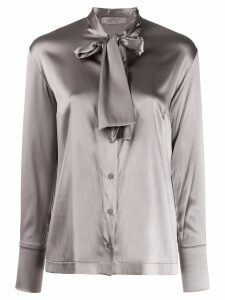 D.Exterior pussy-bow shirt - Grey